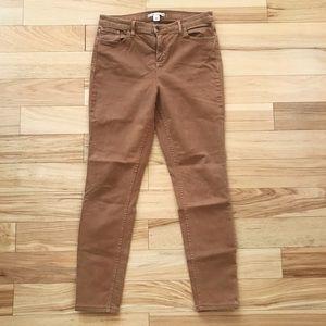 Alice + Olivia Caramel Brown Skinny Jeans